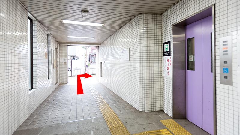 証明写真スタジオヘ道順 東野駅2番出口